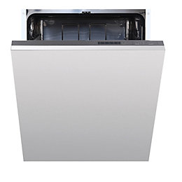 Cata IDW60M Integrated Full Size Dishwasher, White