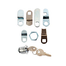 Chrome Brass Replacement Letterbox Lock Set