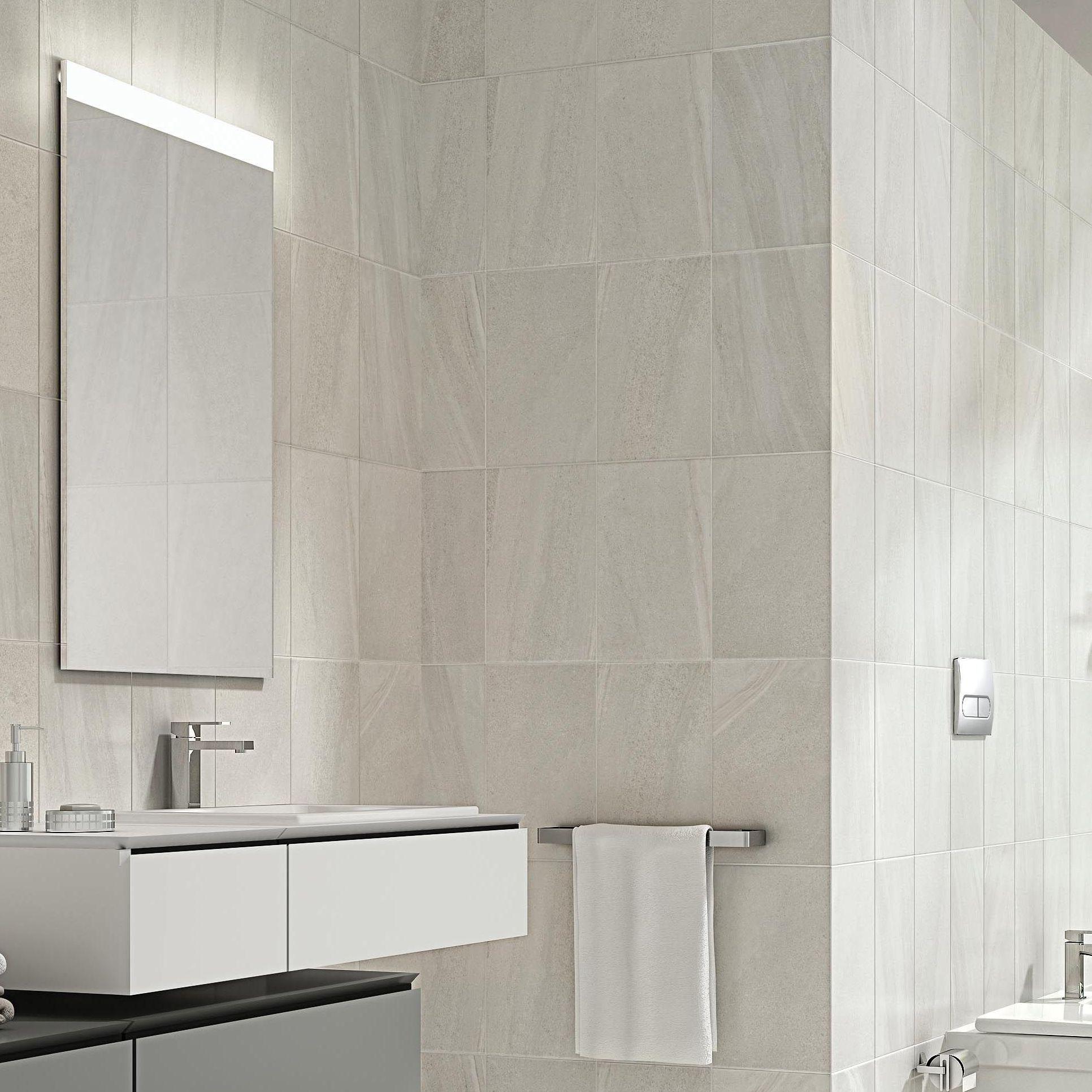 Levanto White Ceramic Wall Tile Pack Of 10 L 250mm W: Fiji White Stone Effect Ceramic Wall Tile, Pack Of 10, (L
