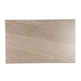 Fiji Grey Ceramic Wall Tile, Pack of 10,