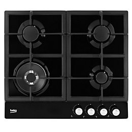 Beko HQAW 64225 SB 4 Burner Black Stainless