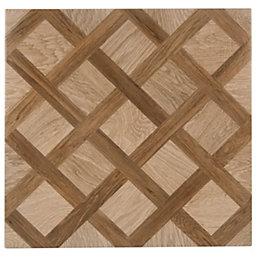 Chalet Oak Effect Porcelain Floor Tile, Pack of