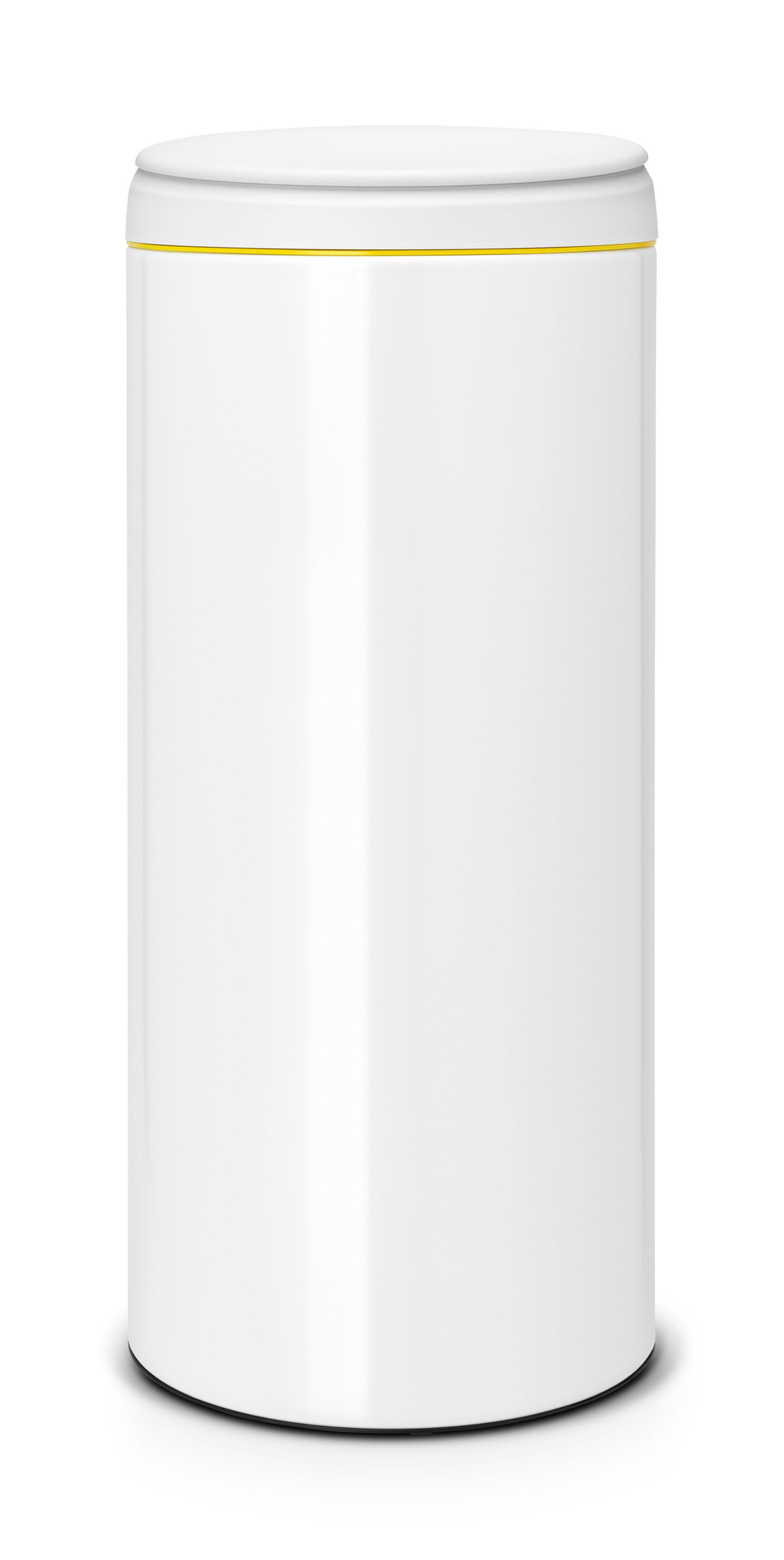 White Kitchen Bin Part - 39: Brabantia Gloss White Metal Round Flip Top Kitchen Bin, 30L | Departments |  DIY At Bu0026Q