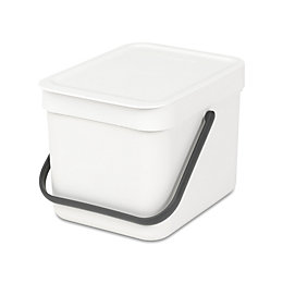 Brabantia Sort & Go White Plastic Square Waste
