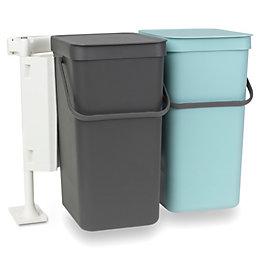 Brabantia Built-In Mint & Grey Plastic Rectangular Waste