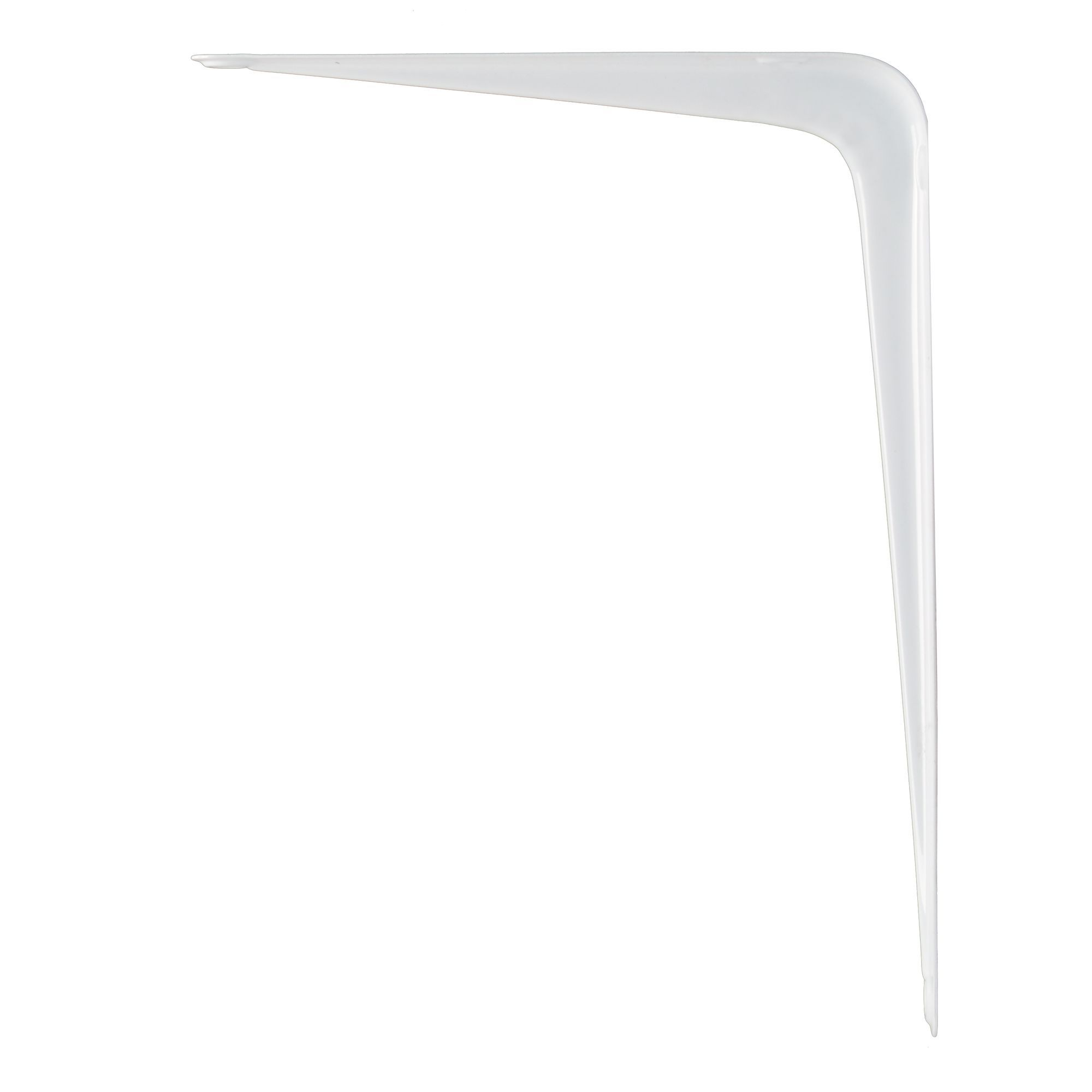 B Q Brackets White Gloss Steel Shelf Bracket D 150mm