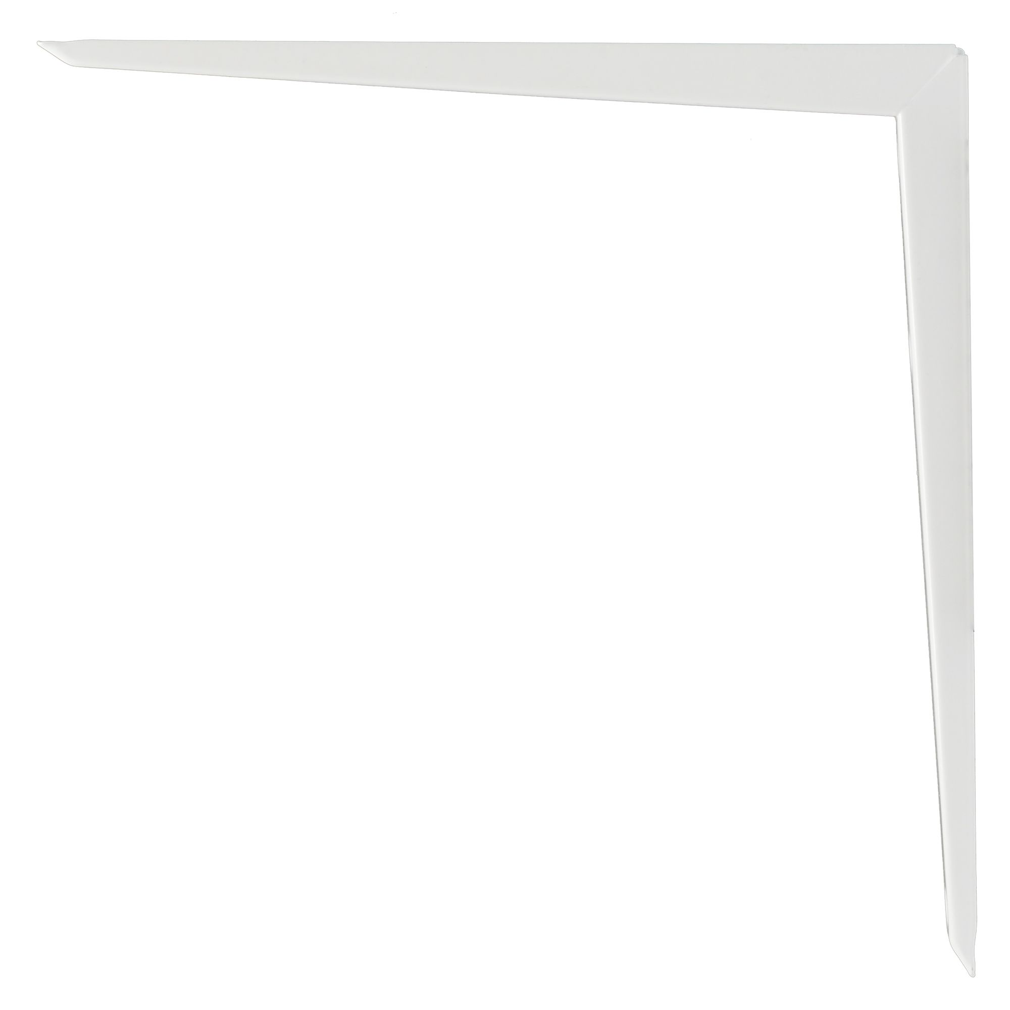 B&q Brackets White Gloss Steel Shelf Bracket (d)250mm
