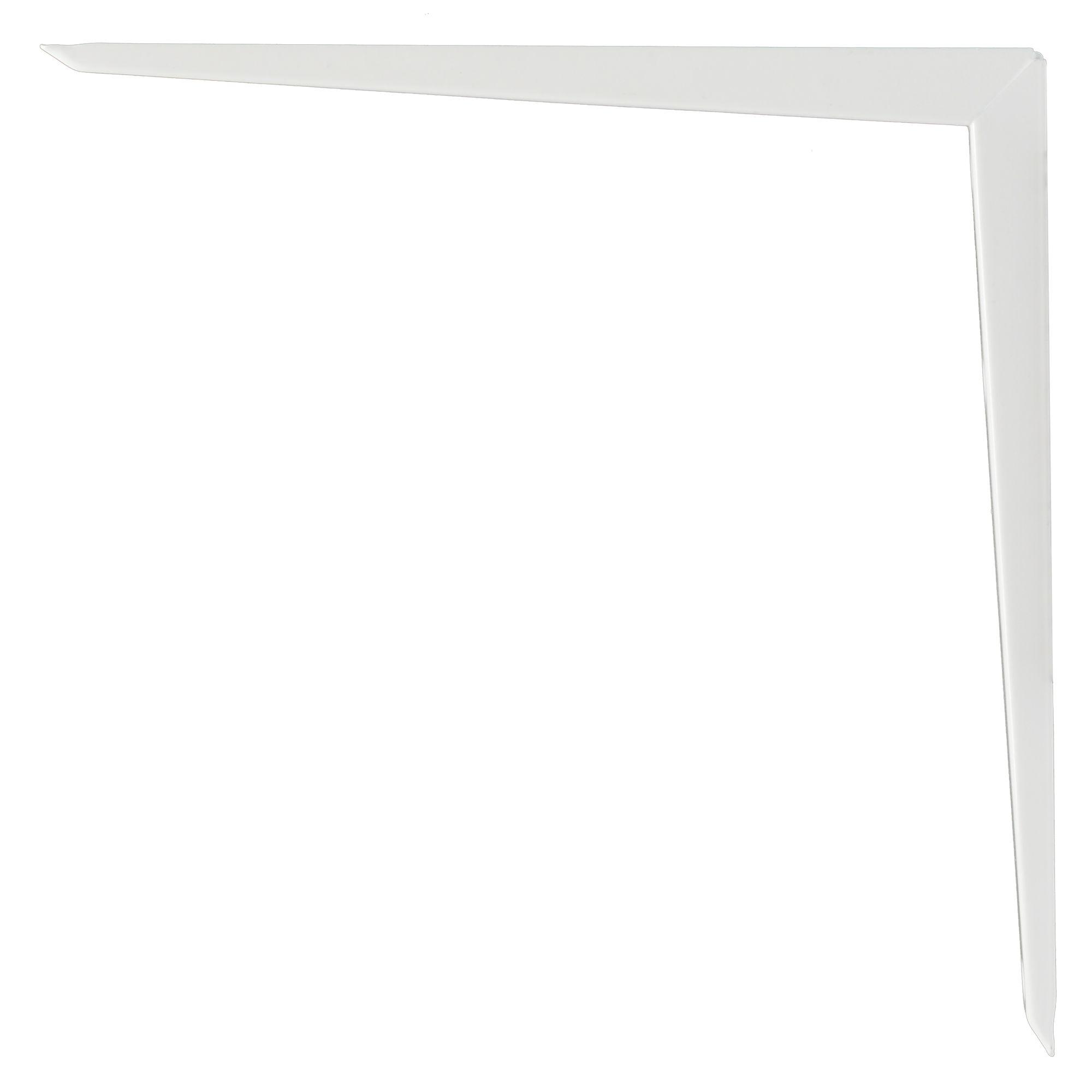 B&q Brackets White Gloss Steel Shelf Bracket (d)300mm