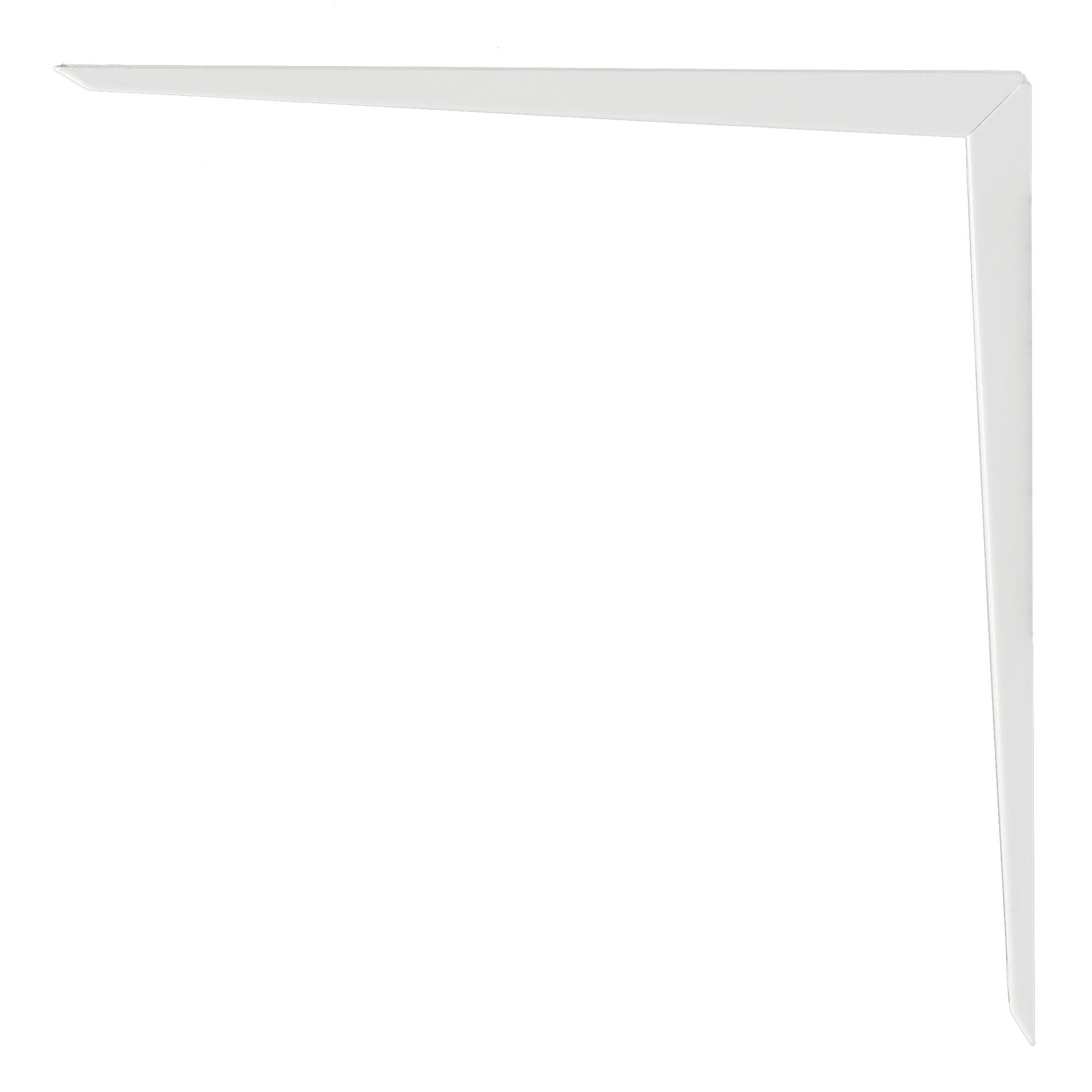 B&q Brackets White Gloss Steel Shelf Bracket (d)350mm