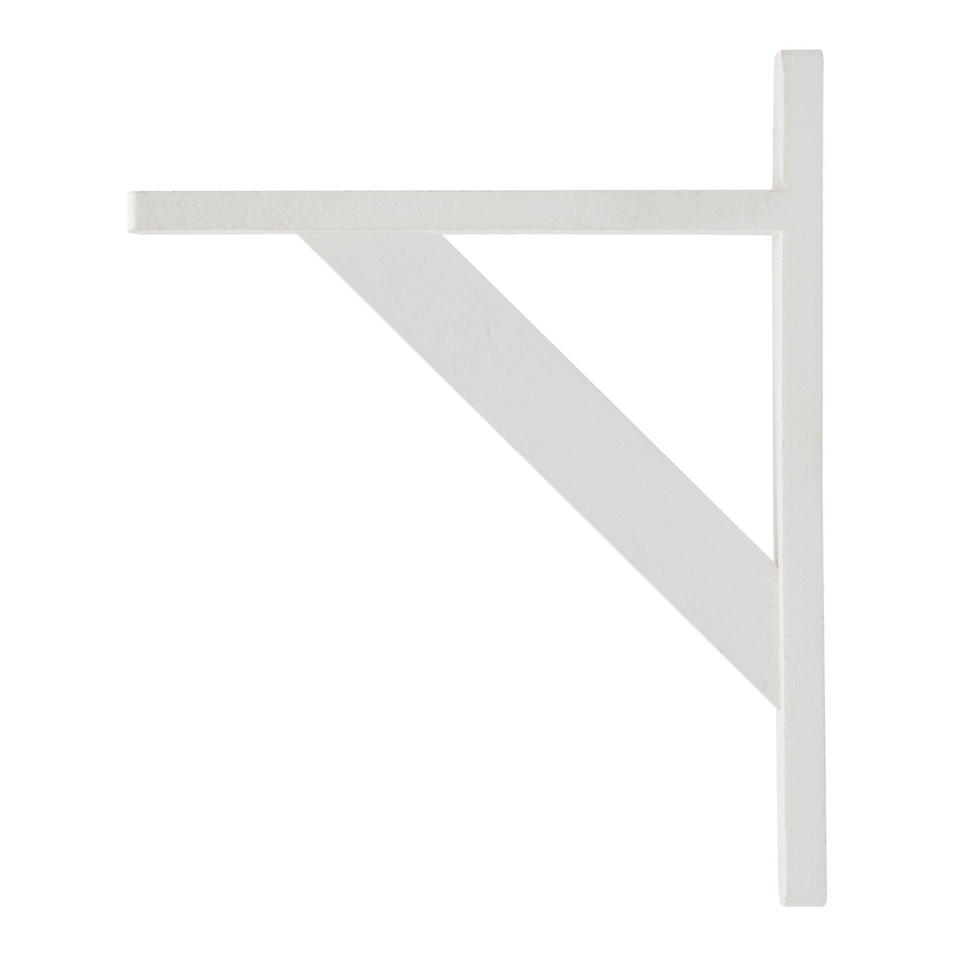 B&q Brackets White Matt Wood Shelf Bracket (d)250mm