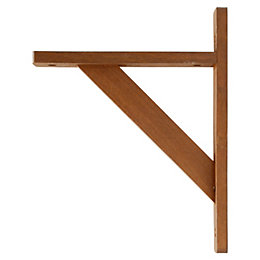 B&Q Natural Walnut Effect Wood Shelf Bracket (D)250mm