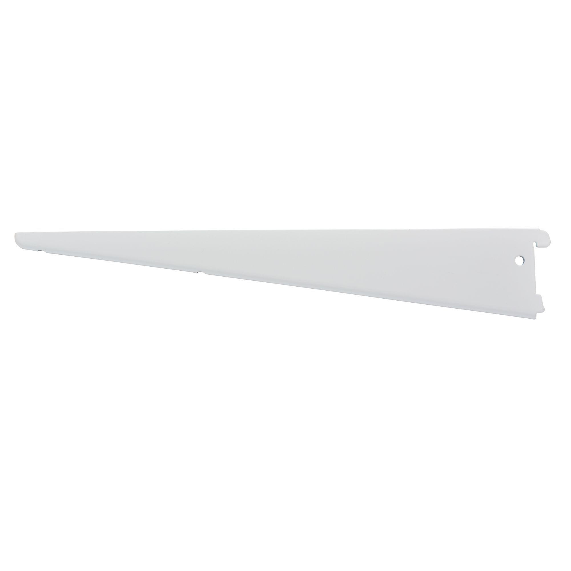 Form Twinslot White Matt Steel Shelf Brackets (d)13mm