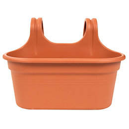 Easy Hanger Plastic Terracotta Duo Planter (H)257mm (L)362mm