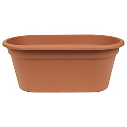 Plastic Terracotta Long Flower Bridge Planter (H)226mm (L)548mm