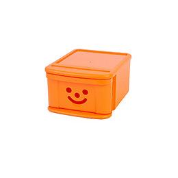 Children's Smiley Orange 12L Plastic Stackable Drawer