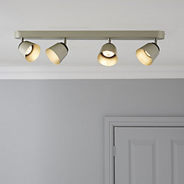 Phillips Dendor County Nickle Effect 4 Lamp Ceiling