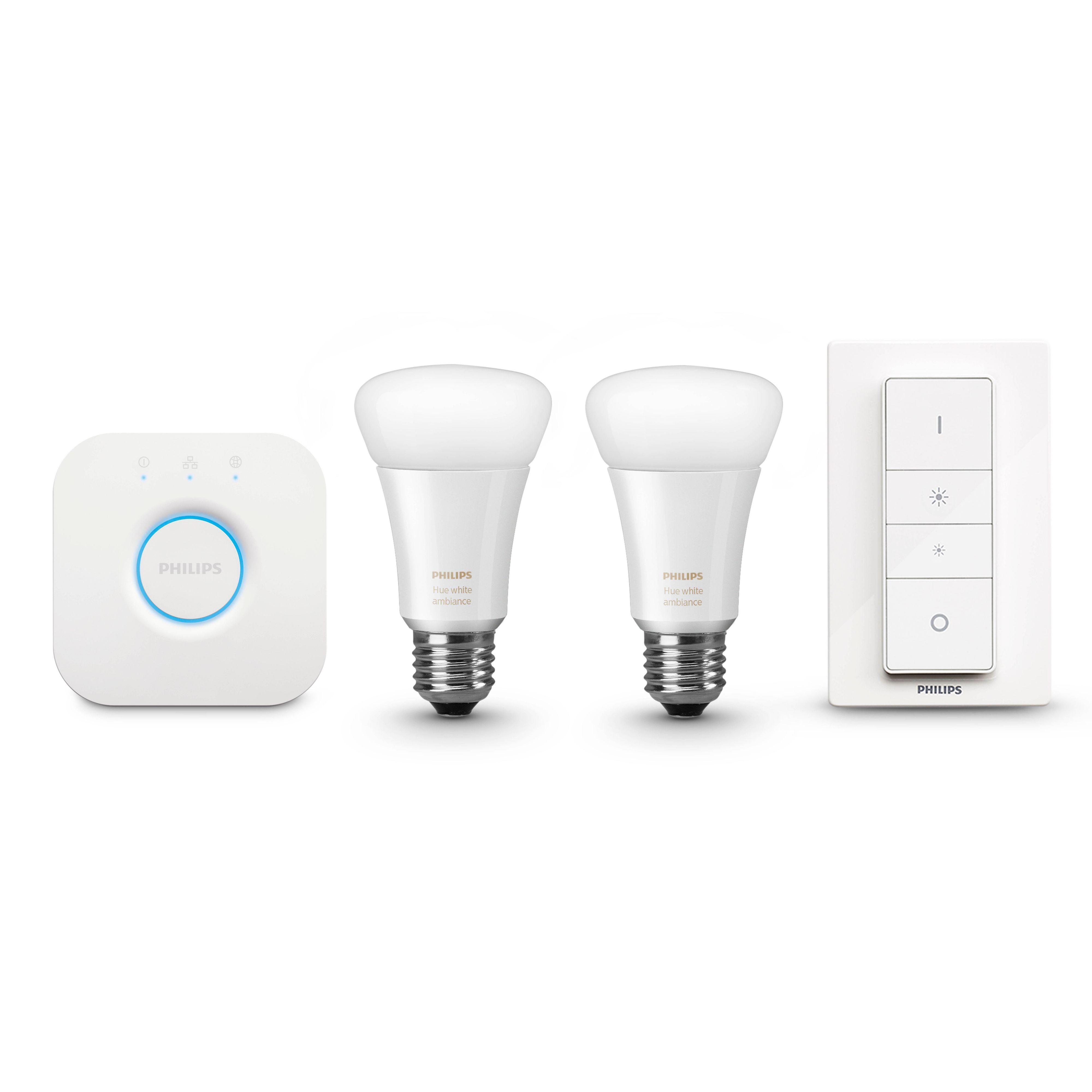 Philips Hue Led White Ambience Smart Light Bulb Starter Pack, E27