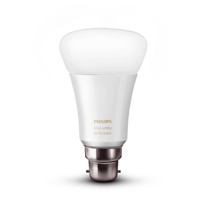 Philips Hue Led White Ambience Smart Light Bulb, Bayonet Cap (b22)