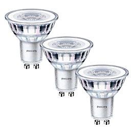Philips GU10 345lm LED Reflector Light Bulb, Pack