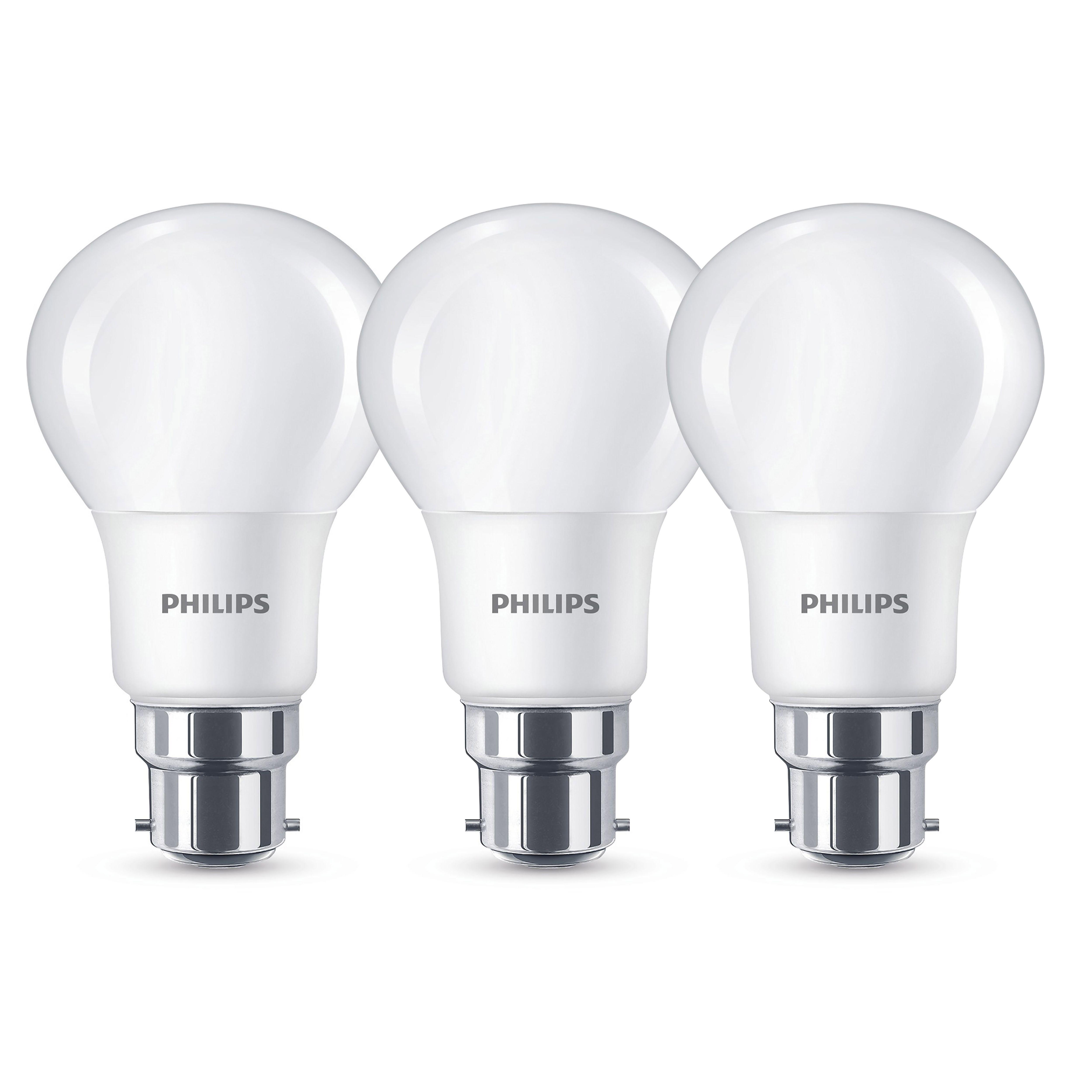 Philips B22 1521lm Led Gls Light Bulb, Pack Of 3