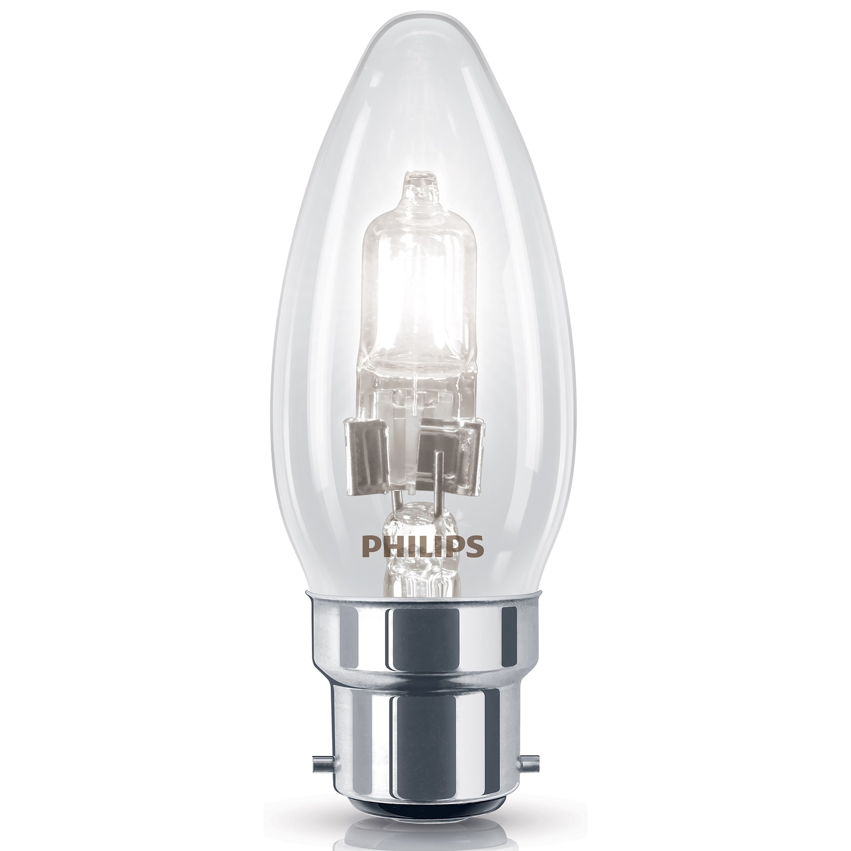 Outside Christmas Lights John Lewis: Philips Bayonet Cap (B22) 42W Halogen Candle Light Bulb