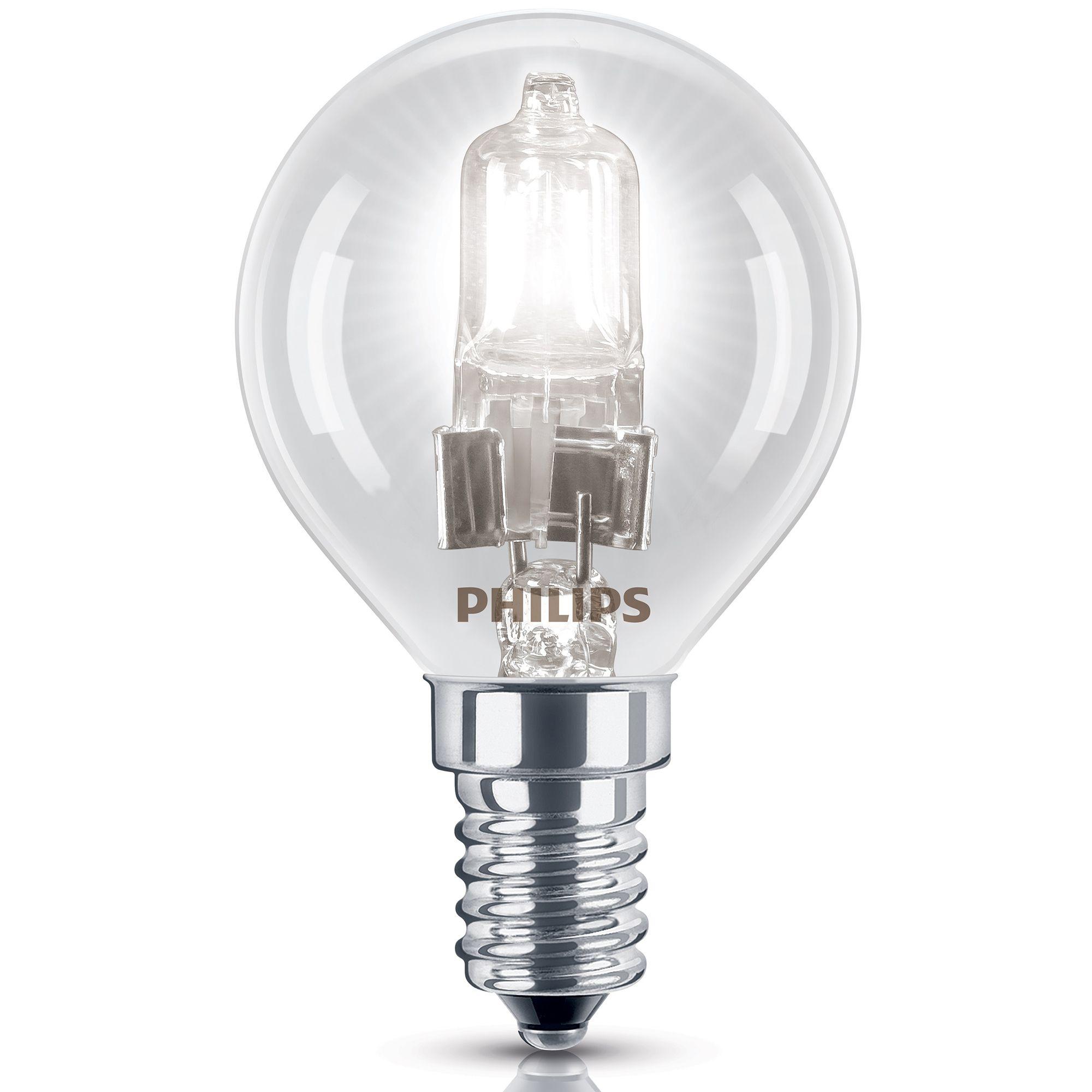 Philips E14 42w Halogen Dimmable Ball Light Bulb