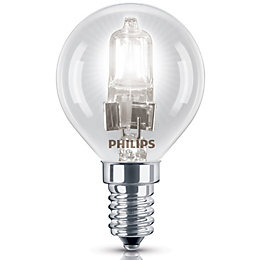 Philips E14 42W Halogen Dimmable Ball Light Bulb