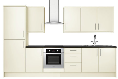 High Gloss Cream 8 unit example