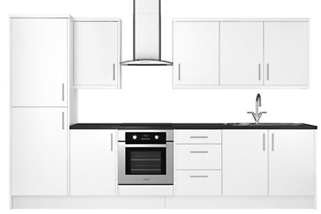 High Gloss White 8 unit example