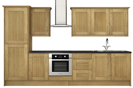 Solid Oak 8 unit example
