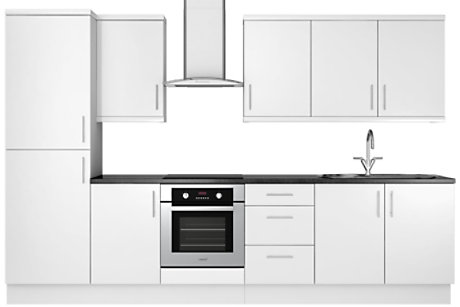 Gloss White Slab 8 unit example