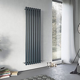 Ximax Vulkan Vertical Radiator Anthracite, (H)1800 mm (W)585