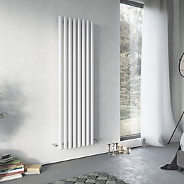 Ximax Vulkan Horizontal Radiator White, (H)600 mm (W)885