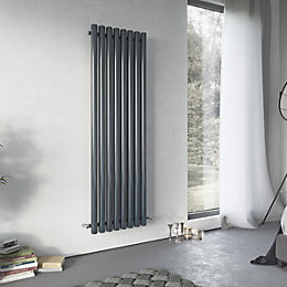 Ximax Vulkan Horizontal Radiator Anthracite, (H)600 mm (W)885
