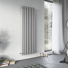 Ximax Vulkan Horizontal Radiator Grey, (H)600 mm (W)1185