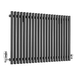 Ximax Supra Horizontal Radiator Anthracite, (H)600 mm (W)870