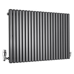 Ximax Supra Square Horizontal Radiator Anthracite, (H)600 mm