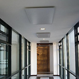Ximax Brushed Aluminium Panel Radiator Ceiling Mount Installation
