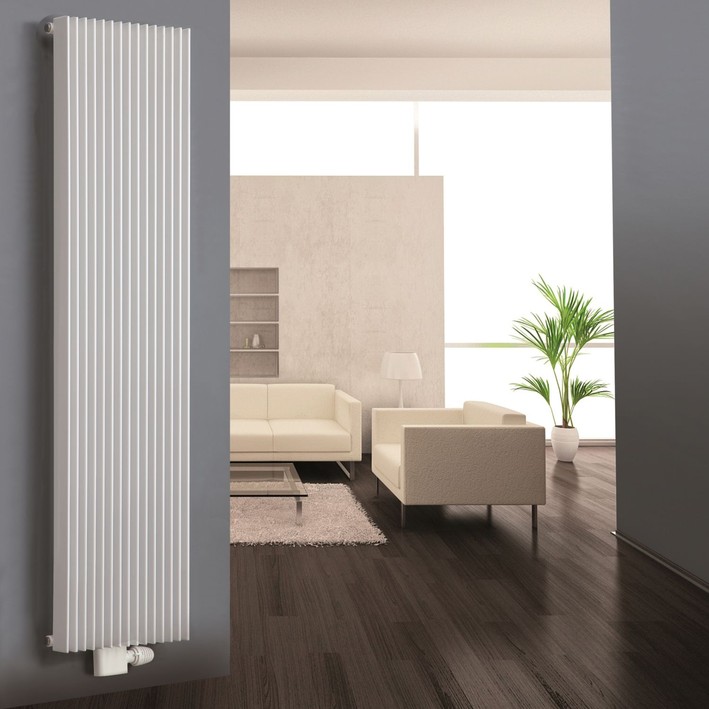Ximax atlas vertical radiator white h 1800 mm w 290 mm departments diy at b q - Designer radiators for living rooms ...