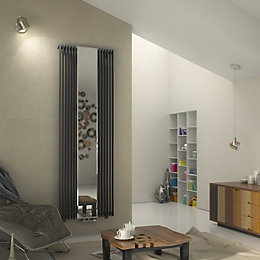 Ximax Vertical Tube Radiator Anthracite, (H)1800 mm (W)600
