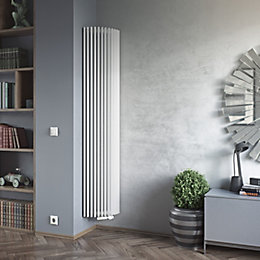 Ximax Triton Semi-Circle Vertical Radiator White, (H)1800 mm