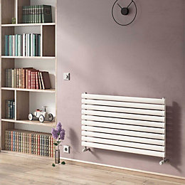 Ximax Horizontal Radiator White Rustic, (H)584 mm (W)1200
