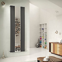 Ximax Fortuna Mirror Duplex Vertical Radiator Anthracite, (H)1800