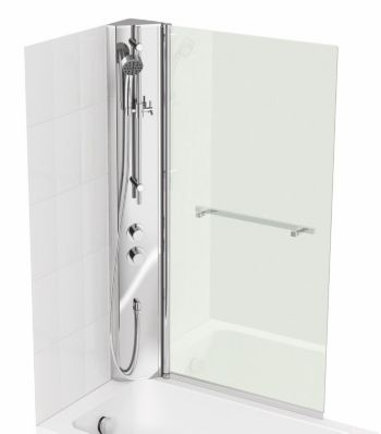 Cooke & Lewis Shower Col & Adelphi Straight Bath Screen