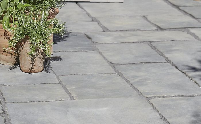 """Grey paving patio"""