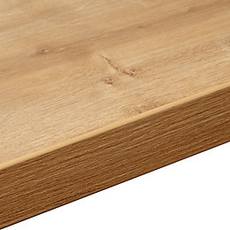 38mm Arlington Oak Soft Grain Wood Effect Square