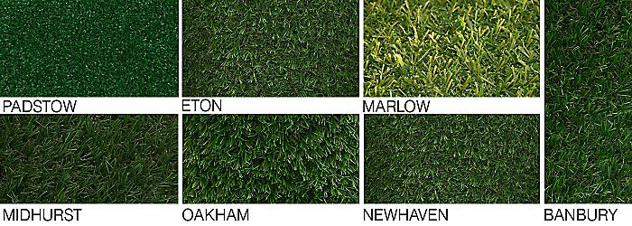 """Close-ups of each product in our artificial grass range"""
