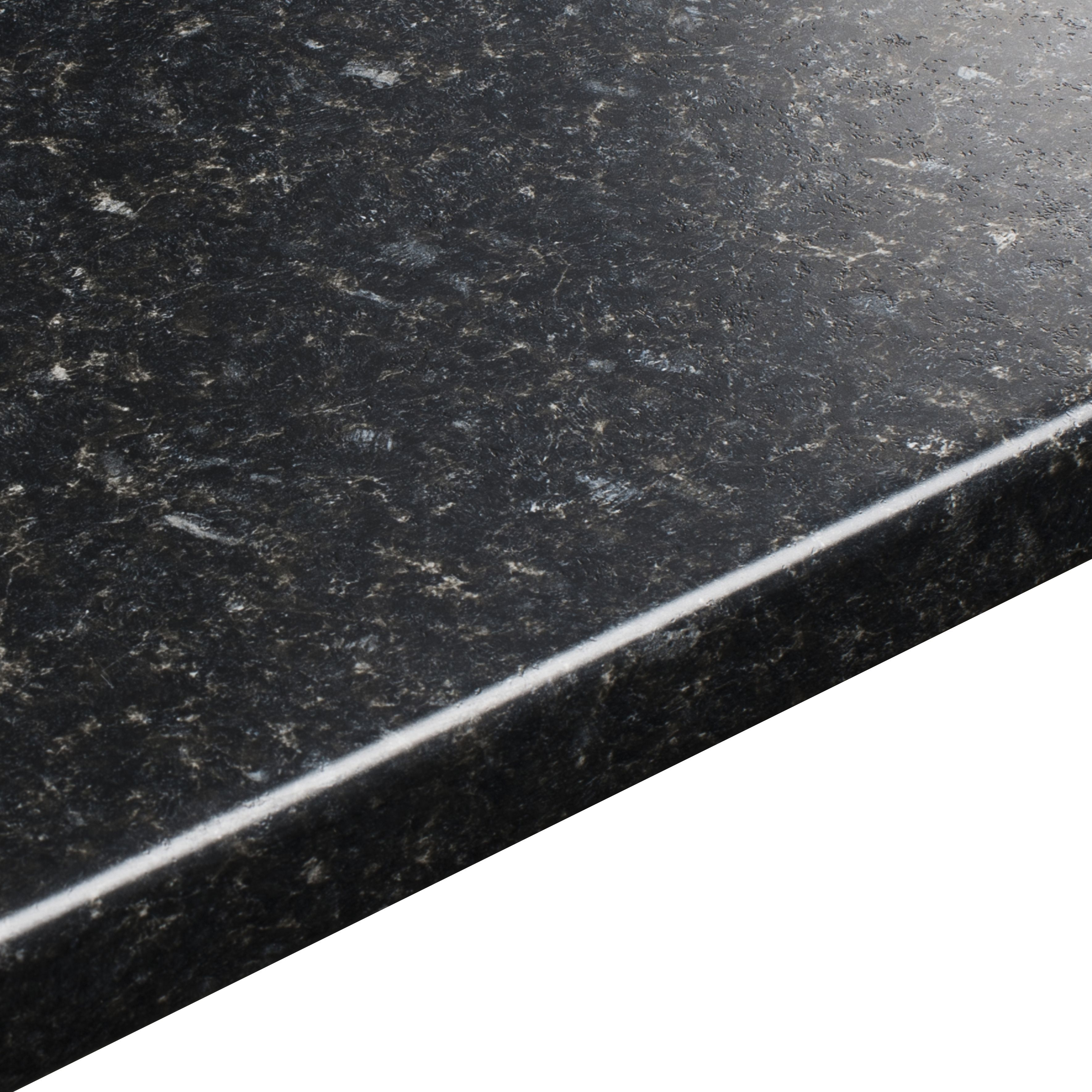 38mm b amp q avalon black textured round edge kitchen worktop l 3m d