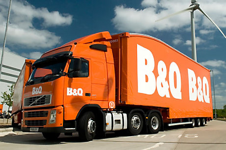 B&Q delivery lorry