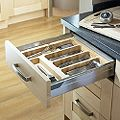 Cooke & Lewis Beech Effect Utensil Tray